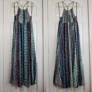 Somedays Lovin Liar Liar Printed Maxi Dress Small